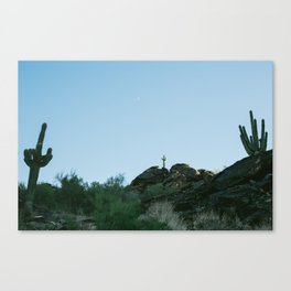 Arizona Desert Moon Canvas Print