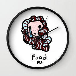 Food Plz Wall Clock