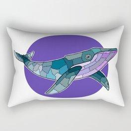 Patchwork Whale Rectangular Pillow
