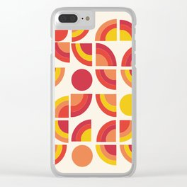 Boogie - abstract retro minimalist 70s 1970s style pattern art 70's 1970's Clear iPhone Case