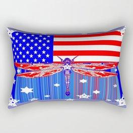 Red-White & Blue 4th of July Celebration Art Rectangular Pillow