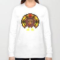 turkey Long Sleeve T-shirts featuring Turkey Bytes by Allison