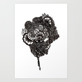 Henna Design Art Print