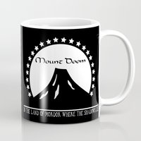doom Mugs featuring Mount Doom by Fiona Reeves