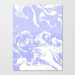 Suminagashi marble pastel blue minimal painting watercolor abstract Canvas Print