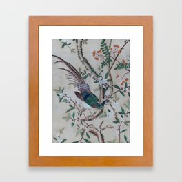 Antique Chinoiserie with Bird Framed Art Print