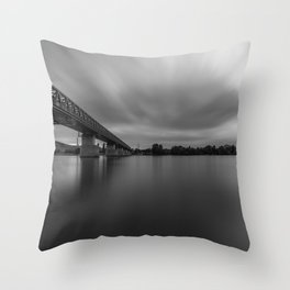 Bridge on Danube Throw Pillow