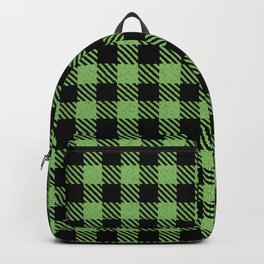 Dollar Bill  Bison Plaid Backpack
