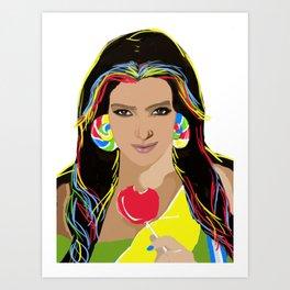 Kim Kandy Art Print
