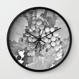 Grape Vines Wall Clock