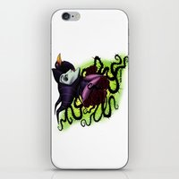 maleficent iPhone & iPod Skins featuring Maleficent by Katie Simpson a.k.a. Redhead-K
