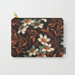 White gothic flowers Carry-All Pouch