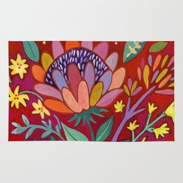 Red Protea Rug