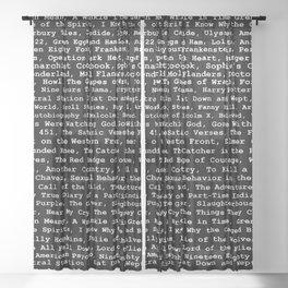Banned Literature Internationally Print on Black Sheer Curtain