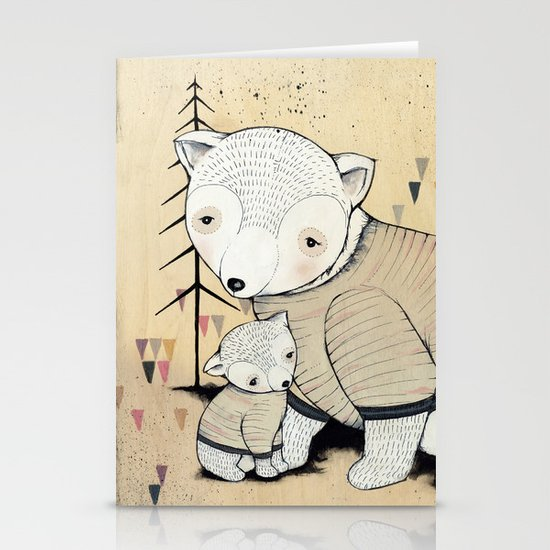 Mama Bear, Baby Bear Stationery Cards