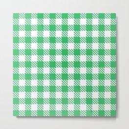 Plaid Pattern 512 Green Metal Print