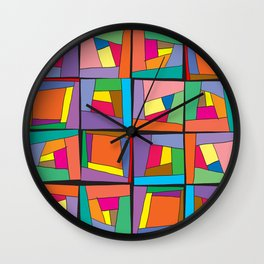 Colorful modules Wall Clock