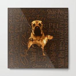 Shar-Pei Metal Print