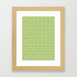 Tulip Knit in Lime & Grey Framed Art Print