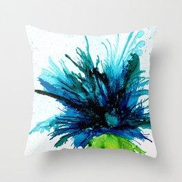 Teal Mum Spray by Studio 1153 Throw Pillow