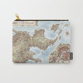 Belthennia - a map of its Independent Territories Carry-All Pouch