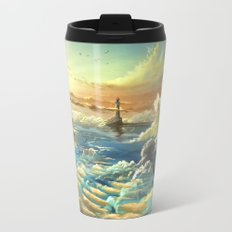 on shore of the sky Travel Mug