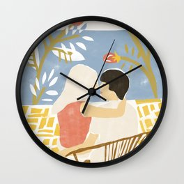 Sunset  Love Wall Clock