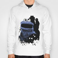 cookie monster Hoodies featuring Monster Madness: Cookie Monster by SB Art Productions