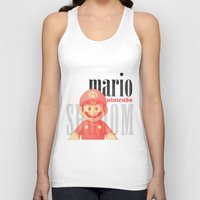 mario Tank Tops featuring Mario by Thomas Official