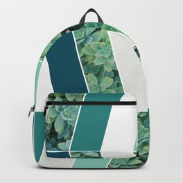 Teal Herringbone Backpack