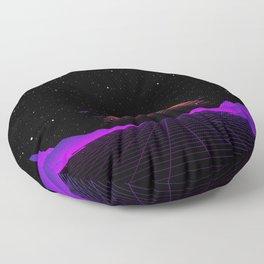 Vaporwave Outrun | Eighties Style Floor Pillow