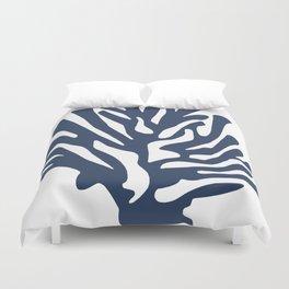 Blue coral Duvet Cover