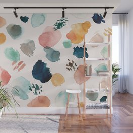 WILD WHIMS Abstract Watercolor Brush Strokes Wall Mural