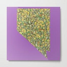 Nevada in Flowers Metal Print