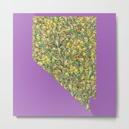 Nevada in Flowers Metal Print