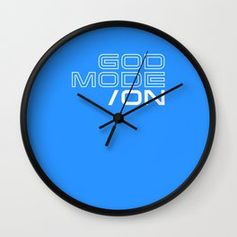 God Mode: ON Wall Clock
