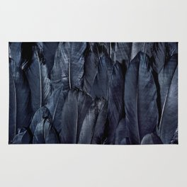 Mystic Black Feather Close Up Rug