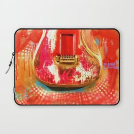 """""""To the Old Gods"""" American contemporary Guitar  painting, prints , music , electric , wall art,decor Laptop Sleeve"""