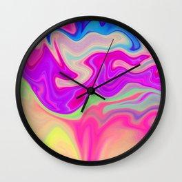 Colored Swirls 05 Wall Clock
