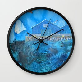 NYC East River Waterway Environment Wall Clock