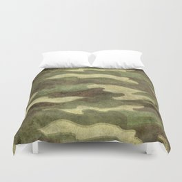 Dirty Camo with a twist Duvet Cover