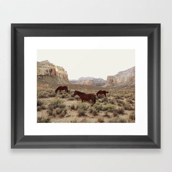 Hualapai Hilltop Horses Framed Art Print