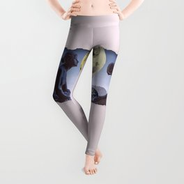 Untimely Ripped Voyeur Views: The World is in Our Hands Leggings
