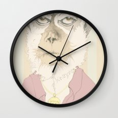 mono gitano Wall Clock