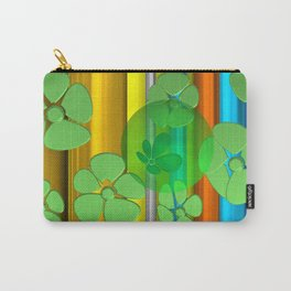 GREEN FLOWER IN POMP Carry-All Pouch