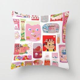Japanese packaging Throw Pillow