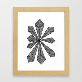 Cubic Explosion Framed Art Print