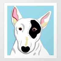 bull terrier Art Prints featuring Bull Terrier by EloiseArt