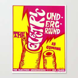 Electric Underground Canvas Print