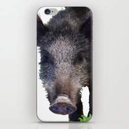 Crazy As A Peach Orchard Boar Vector iPhone Skin